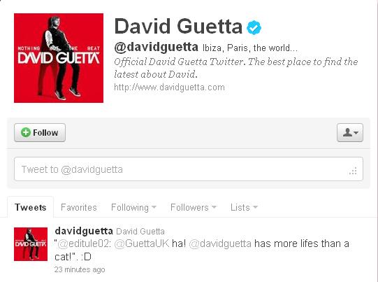 Twitter - David Guetta