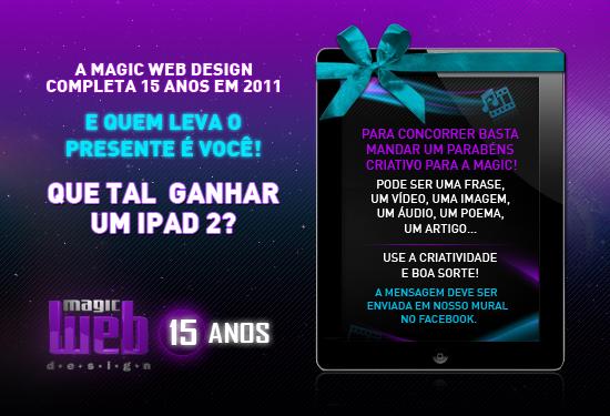 Quer ganhar um iPad? - Magic Web Design