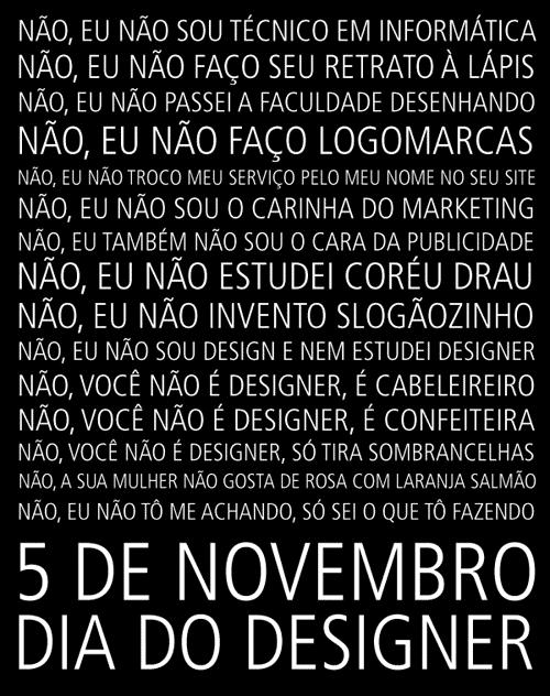 5 de novembro: dia do designer