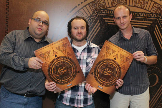 Mauricio Fernandes, Emerson Beck e Carlos Rafael representam a empresa no 35º Prêmio Colunistas
