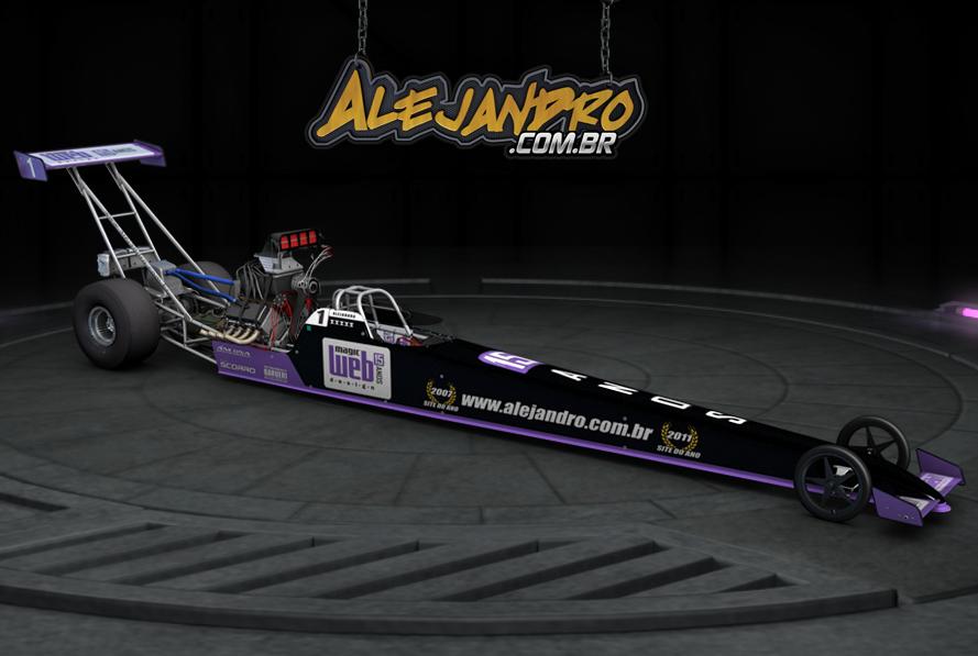 Alejandro Sanchez apresenta seu dragster nas cores da Magic