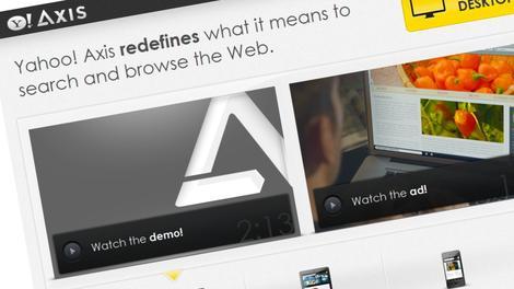 Axis, o novo buscador do Yahoo