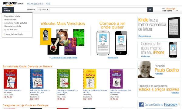 Amazon inaugura loja virtual no Brasil