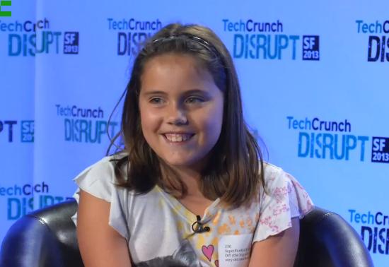 Menina de 9 anos cria mídia social