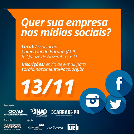 ABRADi-PR promove ciclo de palestras sobre mídias sociais