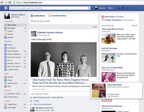 Facebook deixa feed de not cias semelhante a jornal for O architecture facebook