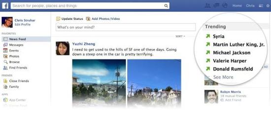 Trending Topics também será novidade no Facebook