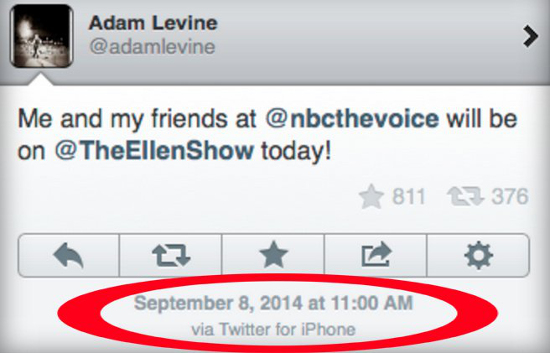 Adam Levine iPad tweet Magic Quem realmente gerencia as redes sociais das celebridades?