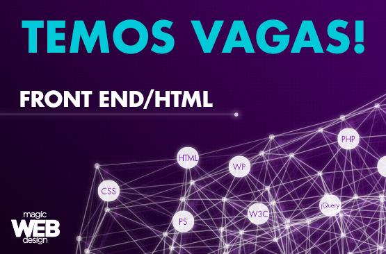Vaga para Programador Front End/HTML