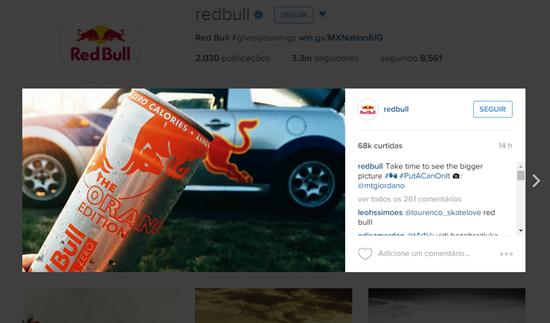 Instagram Red Bull