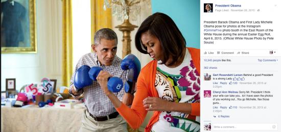 Barack Obama e Michelle em foto descontraída - Magic