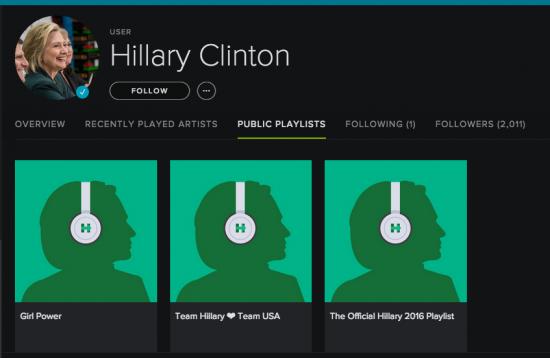 Spotify Hillary Clinton - Magic
