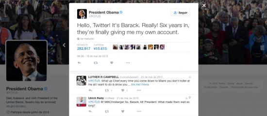 Twitter Barack Obama POTUS - Magic