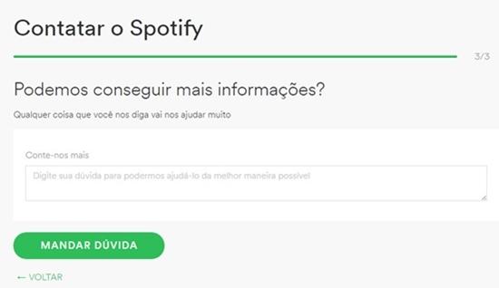 Iniciando o cancelamento da conta no Spotify