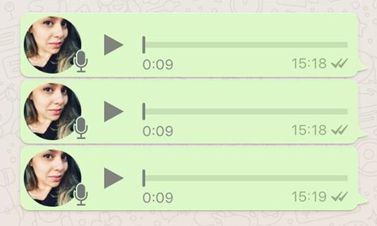 Em alguns celulares, o WhatsApp permite enviar áudios de no máximo 9 segundos