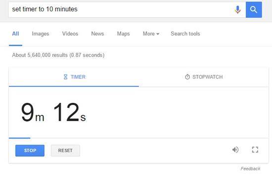 Temporizador Google