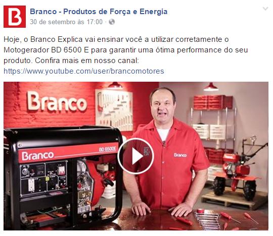 Facebook Branco Motores