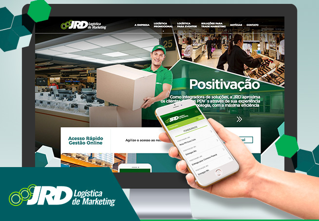 JRD Logística de Marketing - Site, Sistema e App