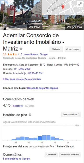Ademilar - Google Meu Negócio