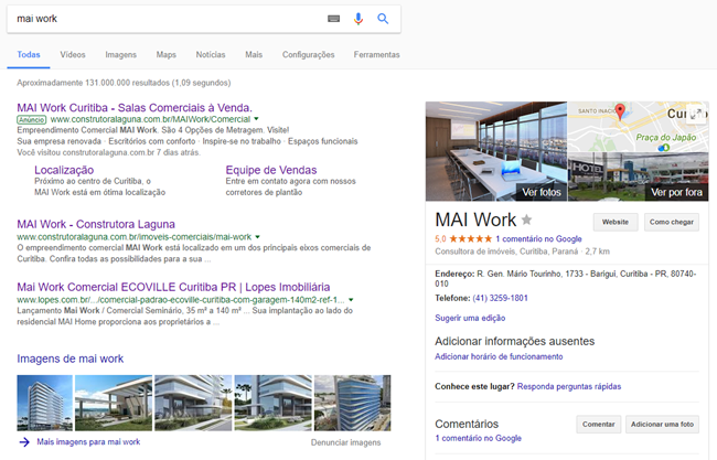 Construtora Laguna MAI Work - Google Meu Negócio