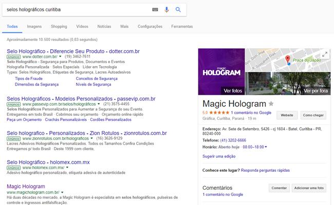 Magic Hologram - Google Meu Negócio