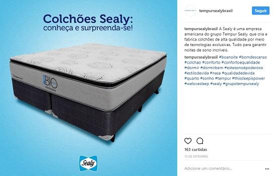 """A TEMPUR®, maior empresa de colchões do mundo, aproveita hashtags populares, como """"#boanoite"""""""