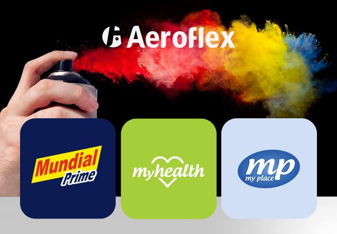 Aeroflex: Mundial Prime, My Health e My Place