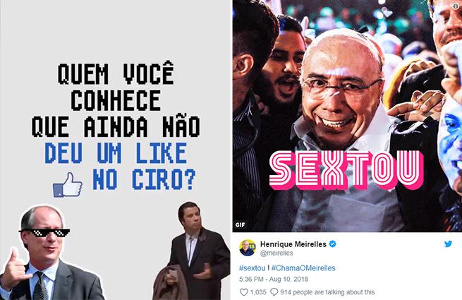 Meirelles e Ciro usam memes para se comunicarem nas redes