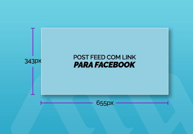 tamanho de post para feed com link para facebook