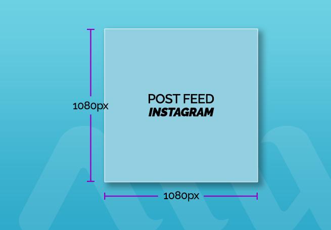 tamanho de post para feed instagram