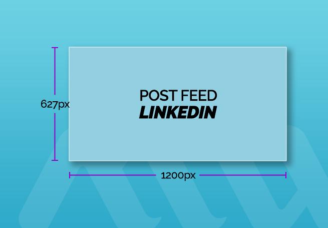 tamanho de post para feed linkedin