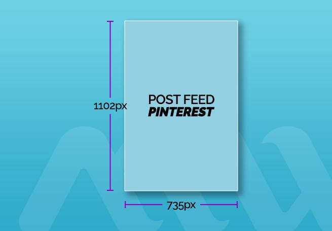 tamanho de post para feed pinterest