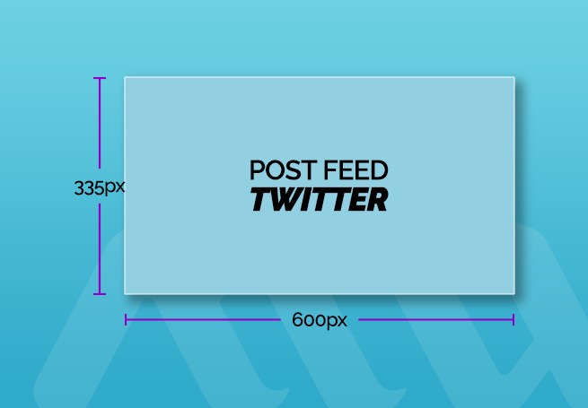 tamanho de post para feed twitter