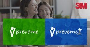 duas mulheres sorrindo e o logo do preveme na imagem